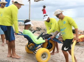 Praia de Guarajuba serviu de palco para a última edição do ParaPraia de 2020