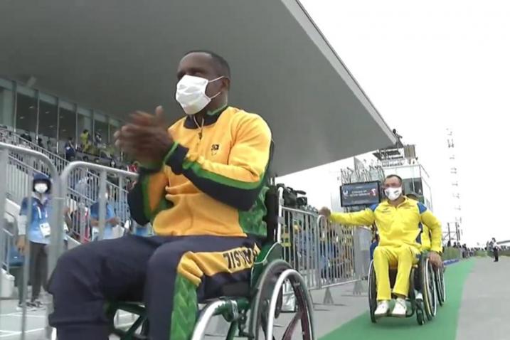 Renê Pereira em direção ao pódio - Paralimpíadas Tokyo 2020